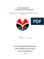 laporan pengujian mutu agroindustri