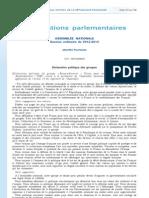 Déclaration politique du groupe Rassemblement-UMP