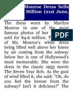 Marilyn Monroe Dress Sells For