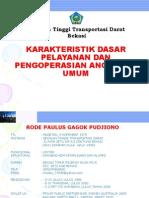 Karakteristik Pelayanan Angkutan Umum