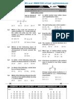 IIT JEE-2013 CHEMITRY PRACTICE PAPERS
