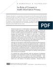 Rethinking the Role of Consent in Protecting Health Information Privacy