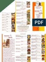 Menu Con Le Calorie Ristorante Tipico La Taverna