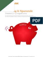 SBAB Bank Inlåning & Sparande #5/2012