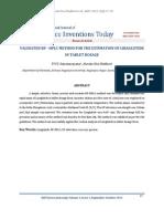 VALIDATED RP - HPLC METHOD FOR THE ESTIMATION OF LIRAGLUTIDE IN TABLET DOSAGE