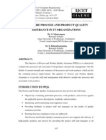 Software Process and Product Quality Assurance in It Organizations