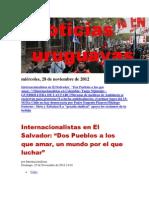 Noticias Uruguayas miércoles 28 de noviembre del 2012