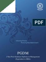 Spjimr PGDM Admission Brochure 2013 2015 9.10.12