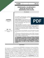 N-2269 89 Verificação, Calibração e Teste de Válvula de Segurança e ou Alívio