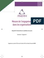 Mesure de l'engagementdans les organisations - Dispositif d'intervention et conditions de succès