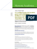 Varesi La configuración del modelo post-convertibilidad Tesis de Maestría 2012