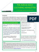 Agriculture and Aquaculture Newsletter Octorber 2012