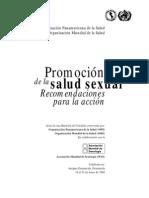 ops - oms - promoción salud sexual de la recomendaciones para la acción - 2000
