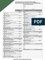 Checklist Agenda Do Carro Norma ABNT NBR 14624.