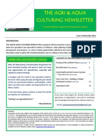 Agriculture and Aquaculture Newsletter November 2012
