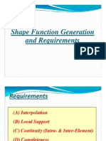 Generation Requirements Shape Funct