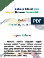Ragam Bahasa Filosof Dan Ragam Bahasa Jurnalistik