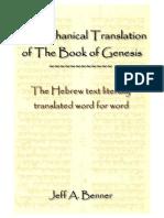 CursoDeHebreo.com.ar - A Mechanical Translation of the Book of Genesis - Jeff A.Benner