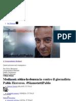 Mediaset Ritira La Denuncia Contro Il Giornalista Pablo Herreros