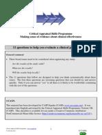 Clinical Prediction Rule CASP Checklist