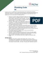Res Plumbing Code Req