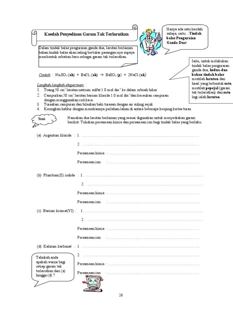 Nota Kimia Garam