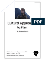 Cultural Approaches to Film - Module Number