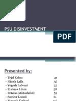 Psu Disinvestment