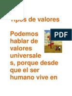 Tipos de Valores Daniela