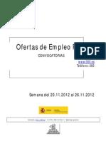Boletin Semanal de Empleo 20-26 de Noviembre 2013