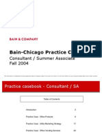 bain chicago practice casebook - Bain Cover Letter