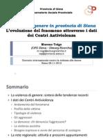 Violenza di genere in provincia di Siena