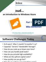 Why Windows Azure?