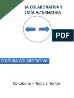 CULTURA CLABORATIVA Y ECONOMÍA ALTERNATIVA