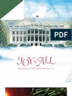 "White House Christmas ""Joy to All"" booklet"