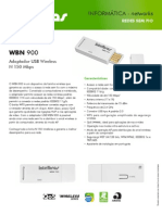 Catalogo WBN 900 Adaptador USB Wireless N 150 Mbps