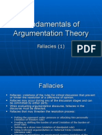 Fundamentals of Argumentation Theory Curs 7 (Fallacies 1)