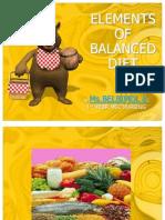 Elements of Balanced Diet