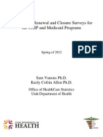 2012 Med CHIP Survey Analysis FINAL