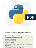 Lecture 1; Python