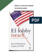 EL LOBBY ISRAELÍ  Y LA POLÍTICA EXTERIOR  DE ESTADOS UNIDOS