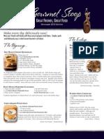 the gourmet scoop - november 2012