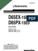 Manual Bulldozer Operacion Mantenimiento d65ex 15e0