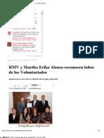 27-11-12 Sexenio Puebla - RMV y Martha Erika Alonso Reconocen Labor de Los Voluntariados