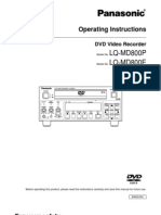 Panasonic LQ MD800E Operation Manual