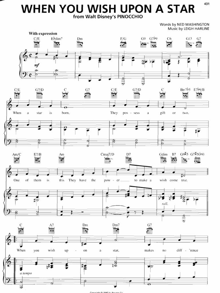 When you wish upon a star sheet music hexwebz Choice Image
