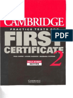 Cambridge Practice Tests for First Certificate 2 Self-Study Edition O