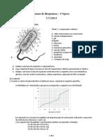 Exame de Bioquimica 1a Chamada