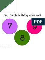 Birthday Cake Mat 7-9