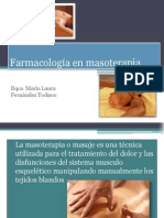 Farmacologia en Masoterapia